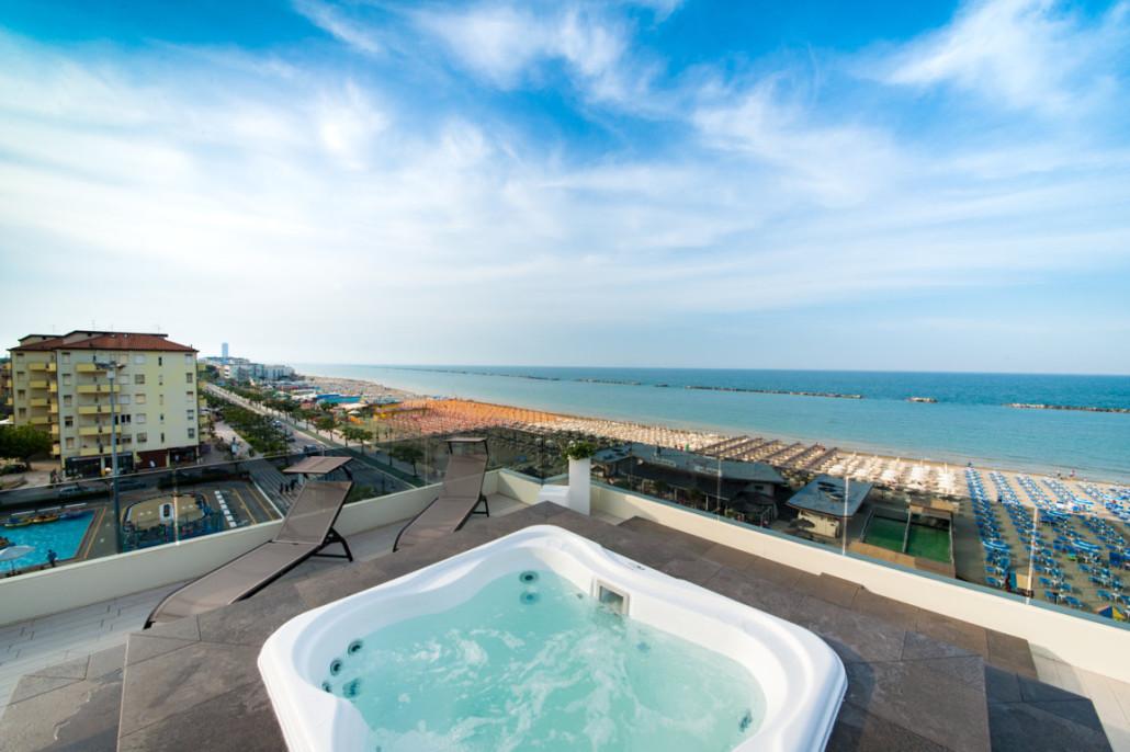 Terrazza panoramica Hotel Vista Mare Cesenatico